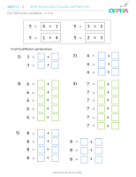 1 – Decomposing Numbers – 3 to 8