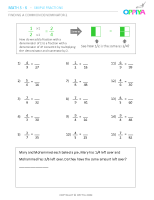 7 – Finding a Common Denominator 2