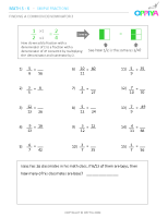 8 – Finding a Common Denominator 3