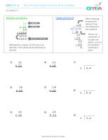 1 – Decimals 1 (x)