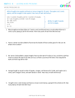 10 – Algebra Word Problems