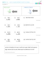 3 – Decimals 3 (+,-)