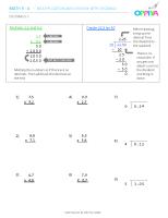 3 – Decimals 3 (x)
