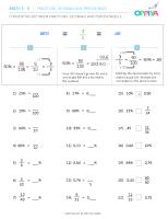 4 – Converting Between Fractions, Decimals & Percentages 2
