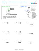 4 – Decimals 4 (x)
