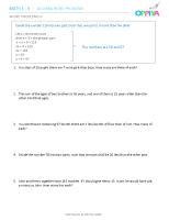 6 – Algebra Word Problems